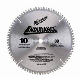 Milwaukee® 48-40-4172 Endurance® Combination Circular Saw Blade, 10-1/4 In Dia X 0.079 In Thk, 5/8 In Arbor, Alloy Steel Blade, 40 Teeth