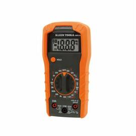 Klein® mm300 Manual Ranging Digital Multimeter, 600 Vac/Vdc, 10 A, 20 Mohm, 2000 Count Lcd Display