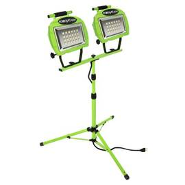 Southwire® L1322Sw Portable Work Light, Led Lamp, 20 W, 12 Vdc, Floor Stand Base, 2 Heads