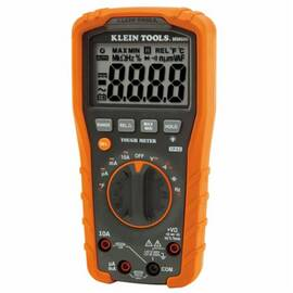 Klein® mm600 Auto Ranging Digital Multimeter, 1000 Vac/Vdc, 10 A, 40 Mohm, 4000 Count Lcd Display