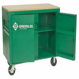 Greenlee® 3548 Mobile Workbench Cabinet With Heavy-Duty Chain Vise, 48 In W X 24 In D X 30 In H, 20 Cu-Ft Load