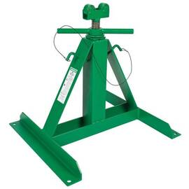 Greenlee® 683 Adjustable Screw Jackstand Reel Assembly, 2500 Lb Load, 24 In L X 22 To 54 In H, Steel