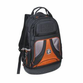 Klein® Tradesman Pro 55421Bp-14 Tool Backpack, Polyester, Black/Orange