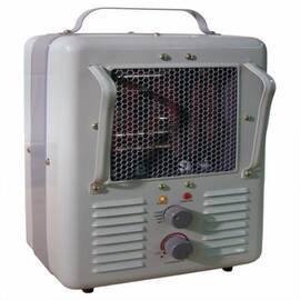TPI 188Tasa 1-Phase Fan Forced Milk-House Style Standard Portable Electric Heater, 5120 Btu, 120 Vac, 12.5/10.8 A, 1500/1300 W