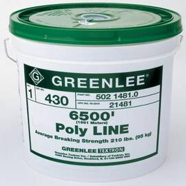 Greenlee® 430 1-Ply Spiral Wrap Pull Line, 210 Lb Tensile, 6500 Ft L, Poly Fiber, For Use With Power Fishing System