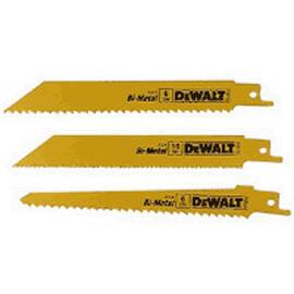 DeWALT® Reciprocating Saw Blade Set, 6 Piece, Raker Teeth, For Use With: Reciprocating Saw, Bi-Metal, Anti-Rust Coated, Yellow