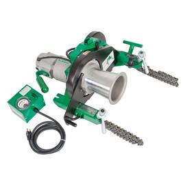 Greenlee® Super Tugger® Cable Puller Assembly, Electrical, Bare Tool, Series: 6000, 4500 to 6500 lb Pulling, 4 Pulling Speeds, 16.5 fpm at No Load Pulling, 3/4 in Cable Dia, Load Rating: 26000 lb, 250 VAC, 10 A, 1-1/2 hp, 20-3/4 in L x 22-1/2 in W x 12