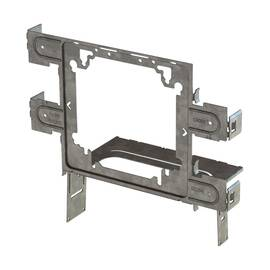 CADDY® STS2346 SNAP TO STUD BOX BRACKET, 4 X 4-11/16 IN BOX, PANEL MOUNT, STEEL, ELECTRO-GALVANIZED