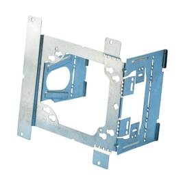 CADDY® TEB23 UNIVERSAL BOX BRACKET, 4 X 4-11/16 IN BOX, PANEL MOUNT, STEEL, PRE-GALVANIZED