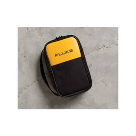 Fluke® Soft Carrying Case, 5-1/2 in Overall Width, 2-1/2 in Overall Depth, 8-1/2 in Overall Height, For Use With: Fluke 20, 70, 11X, 170 Series Digital Multimeters and Other Similar Format Test Tool, 600D Polyester, Black/Yellow