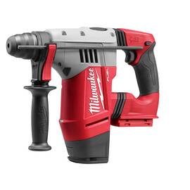 Milwaukee® Cordless Rotary Hammer Drill, Bare Tool, Series: M28 FUEL™, 1-1/8 in Chuck, Keyless/SDS Plus® Chuck, 5000 bpm, 3.5 ft-lb Impact, 1350 rpm No-Load Speed, 28 VDC, Lithium-Ion Battery Type, 3 Ah Battery, No Battery Included, D-Handle/Side, Var