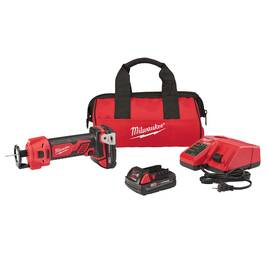 Milwaukee® Cut Out Tool Kit, Kit Tool/Kit, 28000 rpm, 18 VDC, Lithium-Ion Battery Type, 3 Ah Battery, Plastic Housing, 8.9 in L x 2 in W