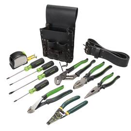 Greenlee® Electricians Kit, Standard, 12 Piece, Pouch Tool Storage Type, Yes Tool Storage Included