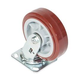 Greenlee® Swivel Caster, 900 lb, 6 in Wheel Dia, Polyurethane over Polyolefin Wheel, 7-1/2 in H x 2 in W