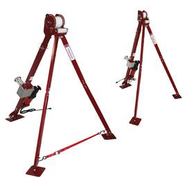 Maxis™ Tripod, For Use With: Maxis® 6K Cable Puller, 3 to 6 ft H Adjustable, 13 to 50 in W Adjustable Leg, 6000 lb Load Capacity, Metallic
