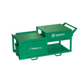 Greenlee® Workhorse™ Bending Threading Cart, 74 in Overall Length, 32 in Overall Width, 28-1/2 in Overall Height, 2000 lb