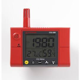 Amprobe® CO2 Wall Mounted Meter, +/-75 ppm, +/-5% Light Level Accuracy, 0 to 95% Humidity, +/- 3/5% Accuracy, LCD Display, 14 to 140 deg F
