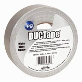 Intertape® 75660 Ac20Colors Utility Grade Duct Tape, 48 mm W X 54.8 M L, 9 Mil Thk, White
