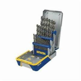 Irwin® Drill Set, Imperial System of Measurement, 1/16 in Minimum Drill Bit Size, 1/2 in Maximum Drill Bit Size, 135 deg Drill Point Angle, 29 Piece, M42 HSS-Co 8