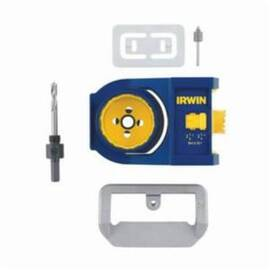 IRWIN® 3111002 DOOR LOCK INSTALLATION KIT, 7 PIECES, FOR USE WITH ALL INTERIOR AND EXTERIOR DOORS, BLUE