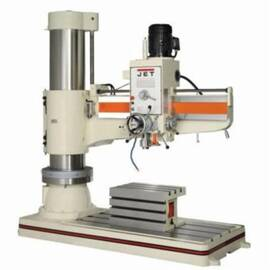 JET® Drill Press, Arm Radial, MT-5 Spindle Taper, 40 to 1920 rpm Spindle Speed, 12 Spindle Speed, 13-3/8 to 62-1/4 in Spindle to Column Distance, 27-7/8 x 19-5/8 x 15-3/4 in Table, 97-5/8 x 41-11/32 x 8-1/4 in Base, 17 in Column Dia, 7-1/2 hp, 460 VAC, 1