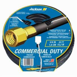 Jackson® 4008300A Heavy Duty Commercial Duty Hose, 50 Ft L, 100 Psi, Brass/Rubber, Domestic