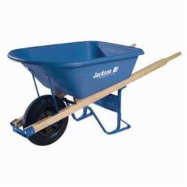Jackson® Mp575T22Bb Heavy Duty Contractor Wheelbarrow With Ball Bearing, 5.75 Cu-Ft, 1 Wheels, Tubed Tire With Ball Bearing, Polyethylene Tray, Wood Handle