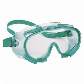Jackson Safety* 14384 V80 Monogoggle* 211 Indirect Vent Standard Safety Goggles, Universal, Scratch Resistant Clear Lens, 2-Piece Green Frame