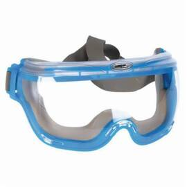 Jackson Safety* 14399 V80 Revolution Indirect Vent Standard Safety Goggles With Neoprene Strap, Universal, Anti-Fog/Anti-Scratch/Impact/Splash Resistant Clear Lens, Pliable Blue Frame