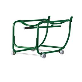 Justrite® 08800 Manual Close Drum Cradle, 600 Lb Load, For Use With 55 Gal Drums, Green/Silver