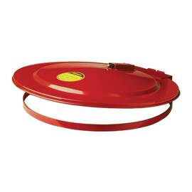 Justrite® Safety Drum Cover, Self-Closing, For Use With: 30 gal Drums, Steel, Red