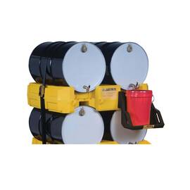 JUSTRITE® 28668 ECOPOLYBLEND™ DRUM MANAGEMENT STACK MODULE, 2 DRUMS, 1500 LB LOAD, 30/55 GAL SPILL, POLYETHYLENE, YELLOW