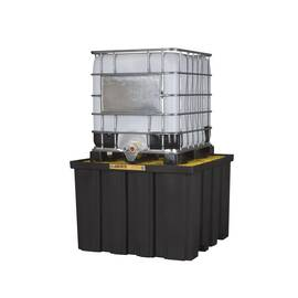 Justrite® 28674 Ecopolyblend™ Ibc Indoor Pallet, 9000 Lb Load, 372 Gal Spill, 55 In L X 55 In W X 37-1/2 In H