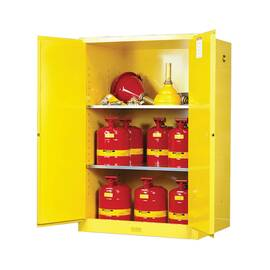 Justrite® 899000 Sure-Grip® Ex Classic Flammable Safety Cabinet, 90 Gal, 65 In H X 43 In W X 34 In D, Cold Rolled Steel