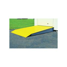 Justrite® 915003 Loading Ramp, 88 In L X 48 In W X 8 In H, For Use With 4 To 16 Drum Lockers, Steel, Yellow, Anti-Skid