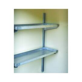 JUSTRITE® 915101 2-TIER SHELVING, FOR USE WITH 2 AND 4 DRUM LOCKERS, GALVANIZED STEEL, SILVER