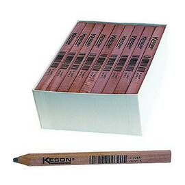 Keson® Lp-72 Carpenter Pencil, 7 In L, Orange Wood Barrel