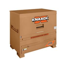 KNAACK® STORAGEMASTER® Piano Box, 30 in Overall Width, 48 in Overall Depth, 49 in Overall Height, 38.2 cu-ft Storage, Steel, Tan, Powder Coated