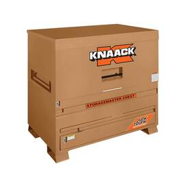 KNAACK® STORAGEMASTER® Piano Box, 30 in Overall Width, 48 in Overall Depth, 49 in Overall Height, 36.2 cu-ft Storage, Steel, Tan, Powder Coated