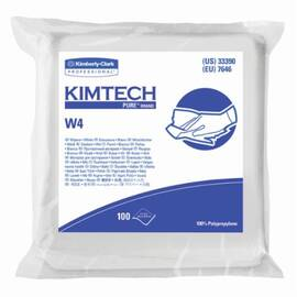 Kimtech Pure* Dry Wiper, Critical Task, Series: W4, 9 in W Size, 100 Wipes Capacity, 9 in Length, White, Polypropylene, Flat/Anti-Stat Double Bag Packing