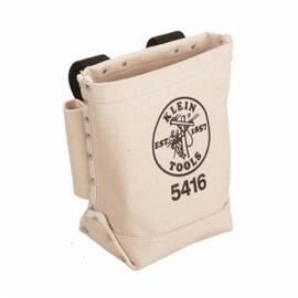 Klein® 5416 Loop Bull Pin/Bolt Bag, 1-Pocket, Canvas, Beige