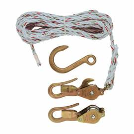 Klein® H1802-30S Block And Tackle With Swivel Anchor Hook Or Guarded Hook, 3/8 In Dia X 7.62 M L