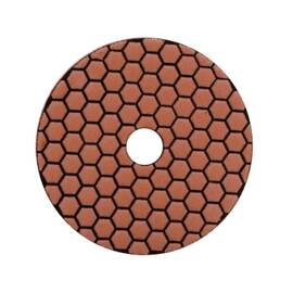 LACKMOND® Dry Polishing Pad, Resin Bonded Velcro® Backed, 4 in Pad Diameter, 800 Grit, Applicable Materials: Granite, Marble, Concrete and Natural Stone