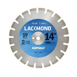 Lackmond® Ha141251Spp Spp Laser Weld Segmented Diamond Blade, 14 In Dia, 1/8 In W Cutting, 1 In To 20 mm, Wet/Dry