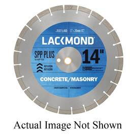 Lackmond® Sg12Spp Plus Spp Plus Laser Weld Segmented Diamond Blade, 12 In Dia, 1/8 In W Cutting, 1 In To 20 mm, Wet/Dry