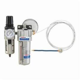 Lenox® Micronizer® JR Lubricant Applicator, 1 Lines, Manual Knob/Shut-Off Valve Control, 1/4 in NPT Air Inlet, 40 to 90 psi Air Inlet, 18-1/2 in Hose, 7 oz Reservoir