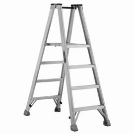 Louisville® Platform Stepladder, Extra Heavy Duty Twin Front Professional, Series: AMP1000, 4 ft Ladder Height, 14-3/8 in Platform Width, 17 in Platform Depth, 3 ft 10 in Platform Height, 300 lb, 25-3/8 in Bottom Width, 53-3/8 in Base Spread, 4 Steps, 3