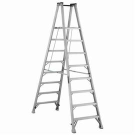 Louisville® Platform Stepladder, Extra Heavy Duty Twin Front Professional, Series: AMP1000, 8 ft Ladder Height, 14-3/8 in Platform Width, 17 in Platform Depth, 7 ft 7 in Platform Height, 300 lb, 31-3/8 in Bottom Width, 85 in Base Spread, 8 Steps, 3 in St