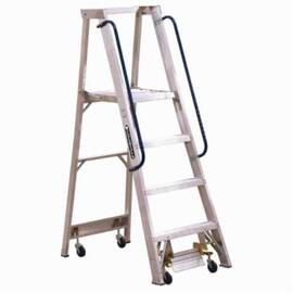 Louisville® Ap5004 Ap5000 Extra Heavy Duty Professional Platform Stepladder, 4 Ft Ladder, 300 Lb Load, 3 Ft 10 In X 15-7/8 In X 20-2/8 In Platform, A14.5, Type Ia, Aluminum