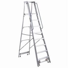 Louisville® Platform Stepladder, Extra Heavy Duty Professional, Series: AP5000, 8 ft Ladder Height, 15-7/8 in Platform Width, 20-2/8 in Platform Depth, 7 ft 7 in Platform Height, 300 lb, 30-1/4 in Bottom Width, 67-1/4 in Base Spread, 8 Steps, 3 in Step D
